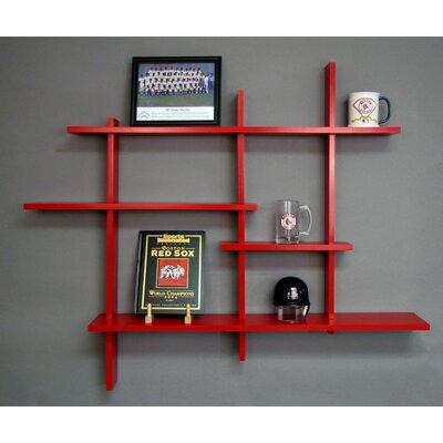 Woodberry 4 Level Wall Shelf Finish: Red