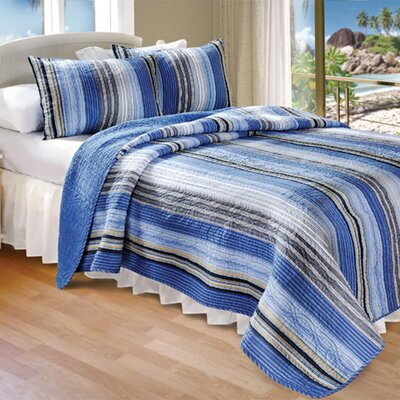 Cotton 2 Piece Quilt Set Size: Queen