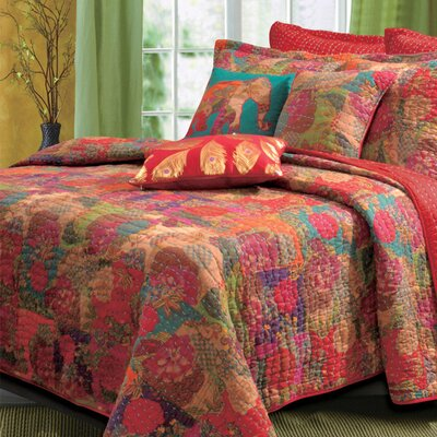 Jewel Cotton Reversible Quilt Set Size: Full / Queen