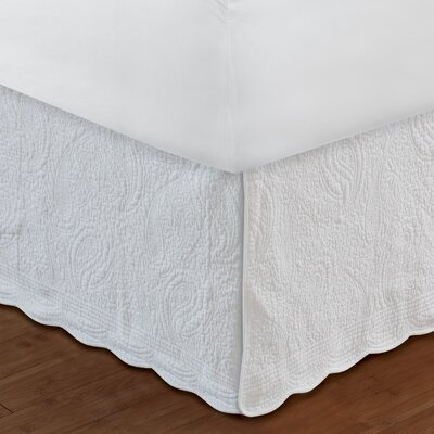 Paisley Quilted 136 Thread Count Bed Skirt Size: King