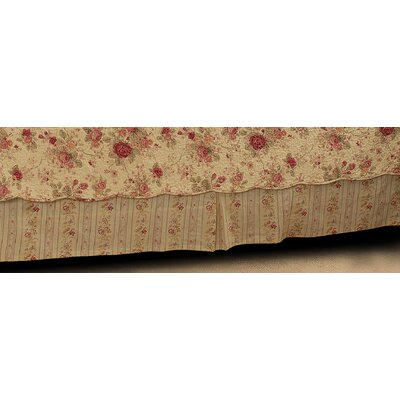 Antique Rose 136 Thread Count Bed Skirt Size: Twin