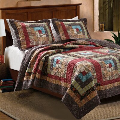 Greenland Home Fashions Colorado Cabin Quilt Set - Size: Twin