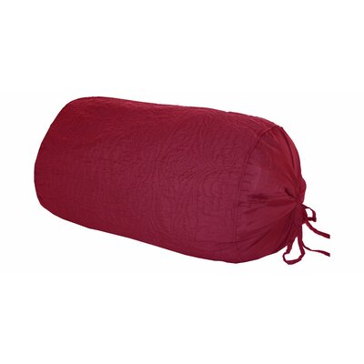Maris Cotton Shell Bolster Pillow Color: Burgundy