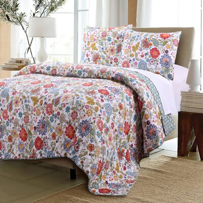 Heartwood Reversible Quilt Set Size: Twin