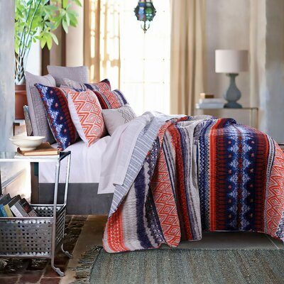 Urban Boho Reversible Quilt Set Size: King