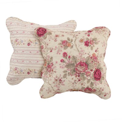 Leroux Antique Rose Cotton Throw Pillow