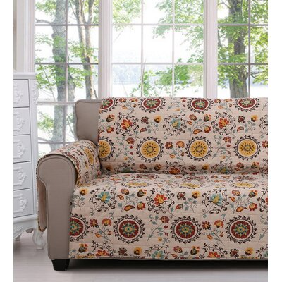 Andorra Quilted Box Cushion Armchair Slipcover Size: Loveseat