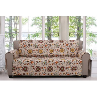 Andorra Quilted Box Cushion Armchair Slipcover Size: Sofa