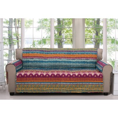 Southwest Quilted Box Cushion Slipcover Size: Sofa