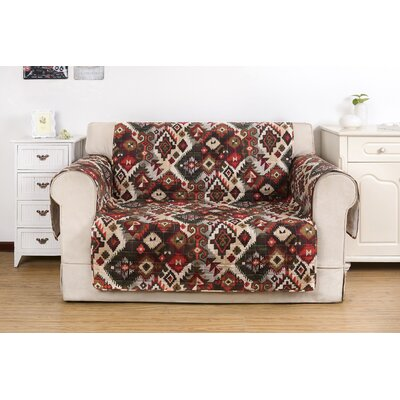 Folk Festival Rustic Quilted Loveseat Protector