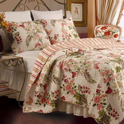 Butterflies Quilt Set Size: Twin