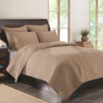 Kahlua Quilt Set Size: Twin, Color: Mocha