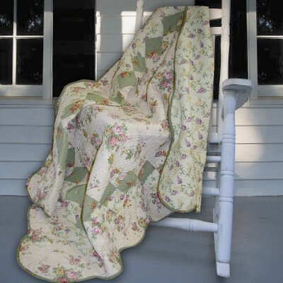 Bliss Cotton Throw Color: Ivory