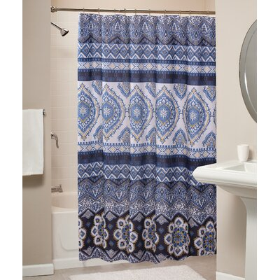 Medina Shower Curtain Color: Indigo