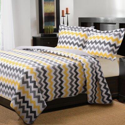 Vida Cotton Reversible Quilt Set Size: King
