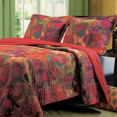 Jewel Reversible Quilt Set Size: King