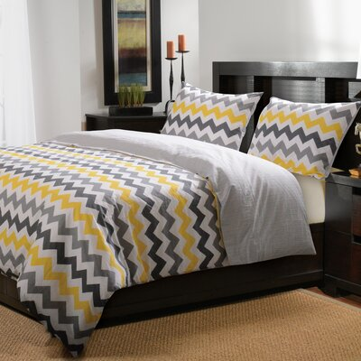 Vida 3 Piece Reversible Duvet Set Size: King