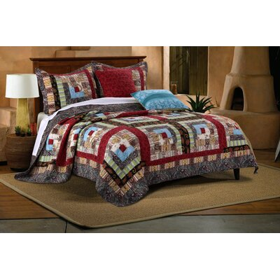 Colorado Lodge Bonus Reversible Quilt Set Size: King