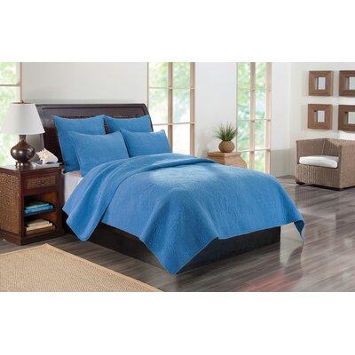 Kahlua Quilt Set Size: King, Color: Blue