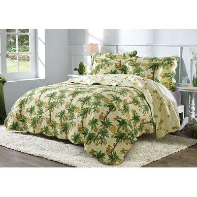 Palmetto Reversible Quilt Set Size: Full/Queen