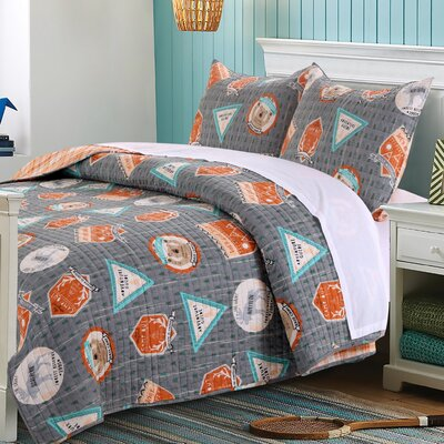 Camp Out Reversible Quilt Set Size: Twin