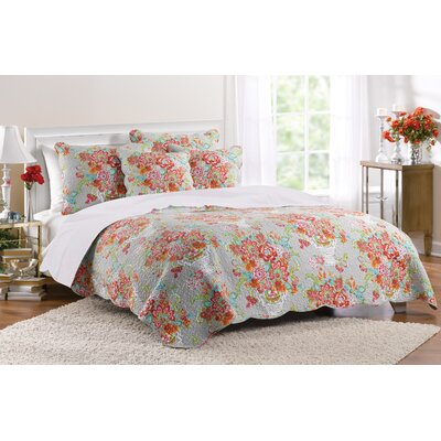 Brandi 3 Piece Reversible Quilt Set Size: Full / Queen