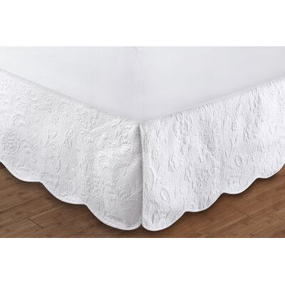 Gwyneth Quilted Bed Skirt Size: Twin