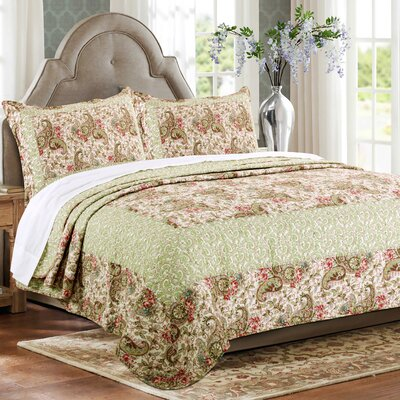 Voltaire 3 Piece Twin Reversible Quilt Set