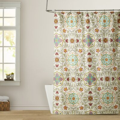 Rouidate Shower Curtain Color: Spice