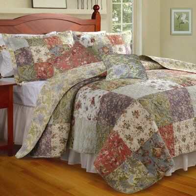 Greenland Home Fashions Blooming Prairie Bonus Quilt Set - Size: Twin