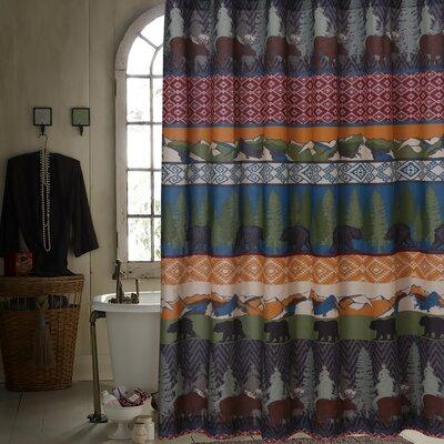 Black Bear Lodge Shower Curtain