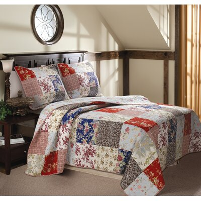 Greenland Home Fashions Vintage Jade Multi Quilt Set | Wayfair