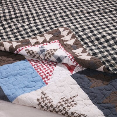 Brookhollow 3 Piece Reversible Quilt Set Size: King