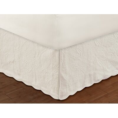 Josephine Quilted Bed Skirt Size: King, Color: Ivory