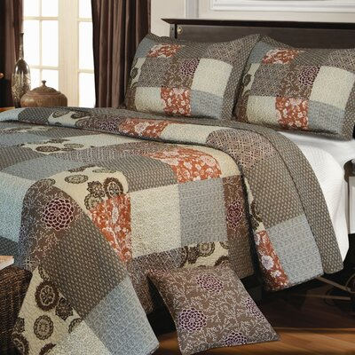 Stella 3 Piece Reversible Quilt Set Size: Full/Queen