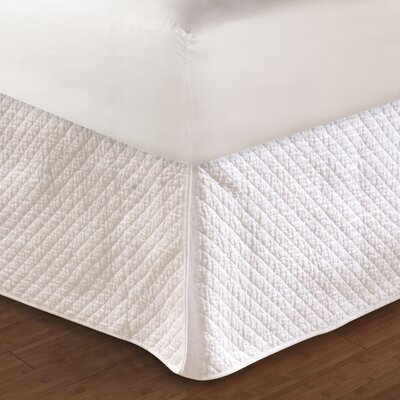 Diamond Quilted Bed Skirt Size: Twin