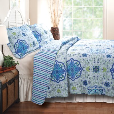 Esprit Capri Cotton Reversible Quilt Set Size: King