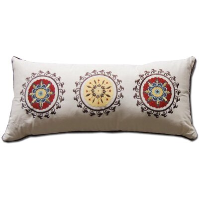 Andorra Embroidered Cotton Boudoir Pillow