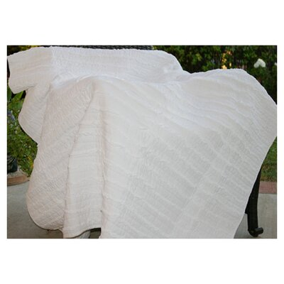 Cotton Ruffled Throw Color: White