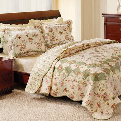 Bliss Reversible Quilt Set Size: King