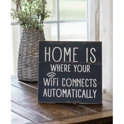 'WiFi Home' Textual Art