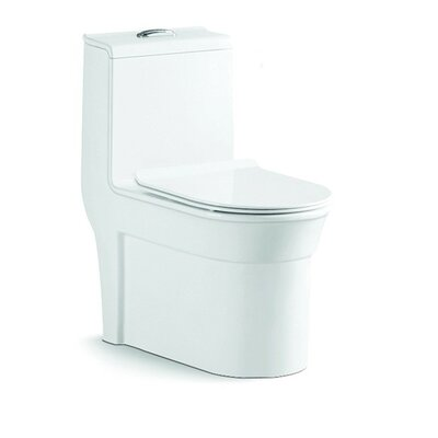 Dual Flush Elongated One-Piece Toilet