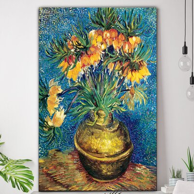 'Vase with Flowers' by Vincent Van Gogh Oil Painting Print on Canvas ALTH6467 45515602