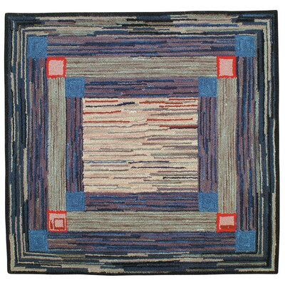 Jenette Hand Tufted Wool Blue Area Rug Rug Size: Runner 2' x 8'