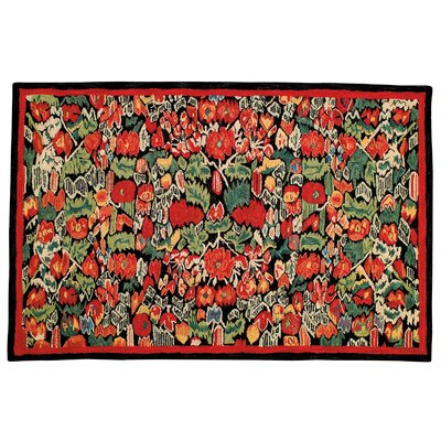Wessex Hand Tufted Wool Red Area Rug Rug Size: Square 5