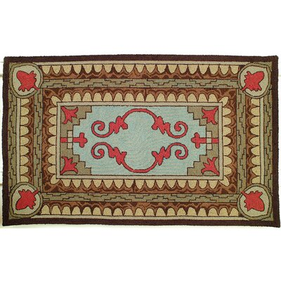 West Hill Hand Hooked Wool Brown Area Rug Rug Size: 4 x 6