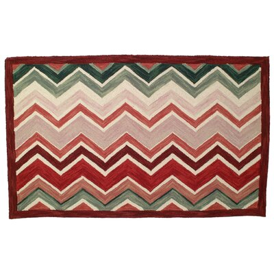 Ringwald Hand Tufted Wool Red Area Rug Rug Size: 3 x 5