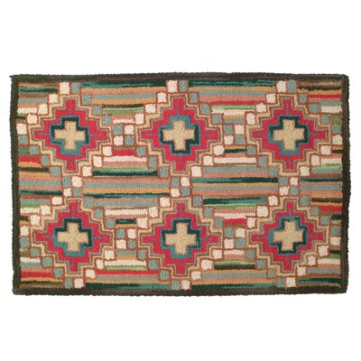 Laurius Hand Tufted Wool Green Area Rug Rug Size: 2 x 3