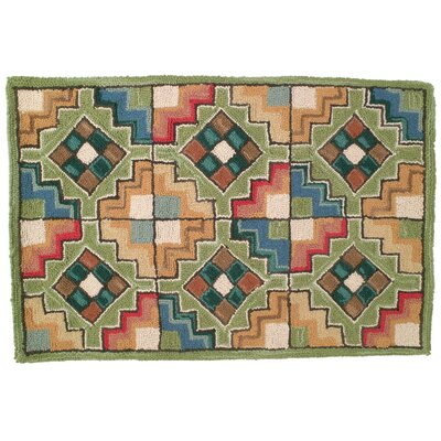 Chatsworth Hand Tufted Wool Green Area Rug Rug Size: 2 x 3