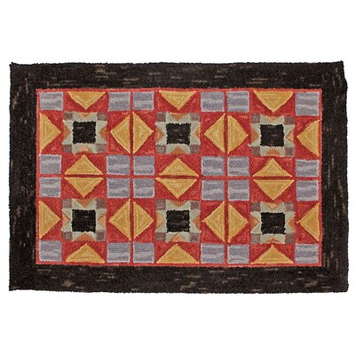 Cherwell Hand Tufted Wool Red Area Rug Rug Size: 2 x 8